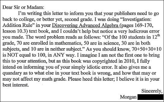An Open Letter to Morgan R. | Sine of the Times