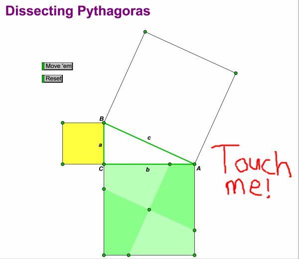 Pythagoras Sketchpad sketch