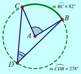 Circle with Arcs and Angles