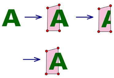 Cropping and Reflecting the Letter A