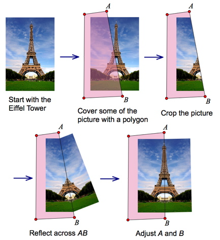 Cropping and Reflecting the Eiffel Tower