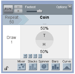 Coin Spinner in TinkerPlots